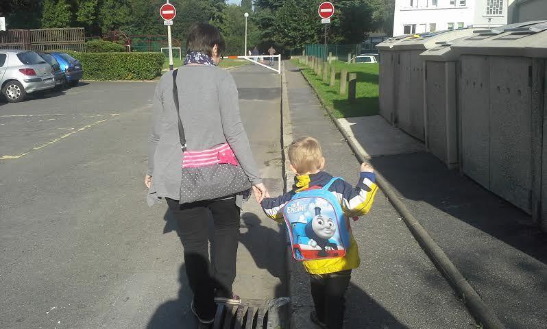 Sur le chemin de l'école...