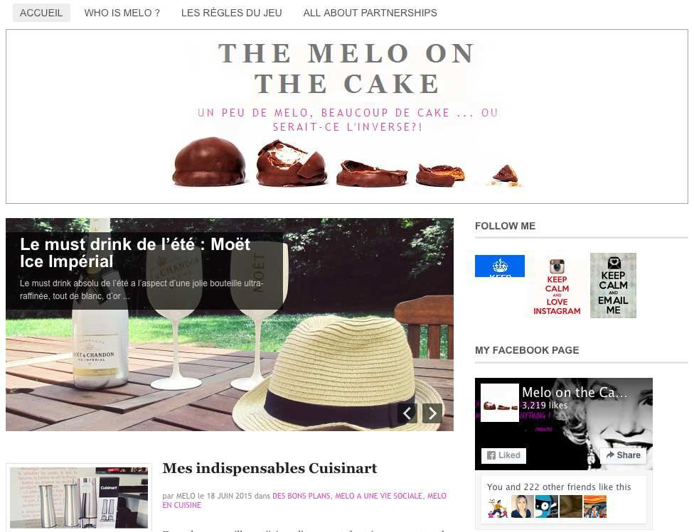 [Web] Le blog de la semaine : à la découverte de... &quot&#x3B;The Melo on the Cake&quot&#x3B;
