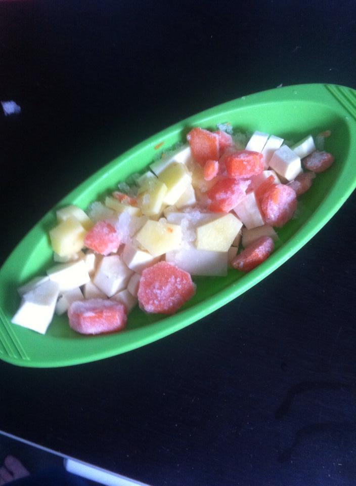 Purée de carottes, panais, pommes de terre et cabillaud