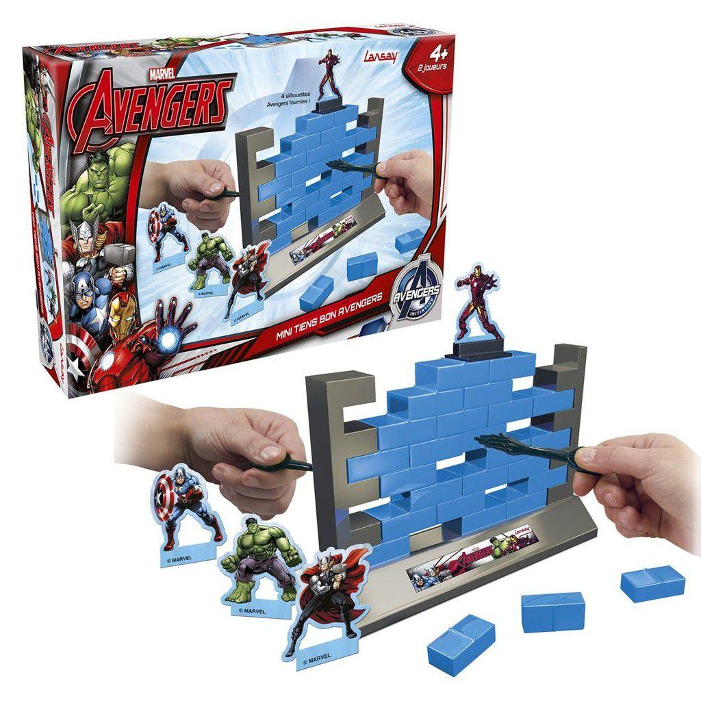"""Le mur """"tiens bon"""" Avengers, Lansay, 19,99€ (existe en version mini à 11,50€)."""