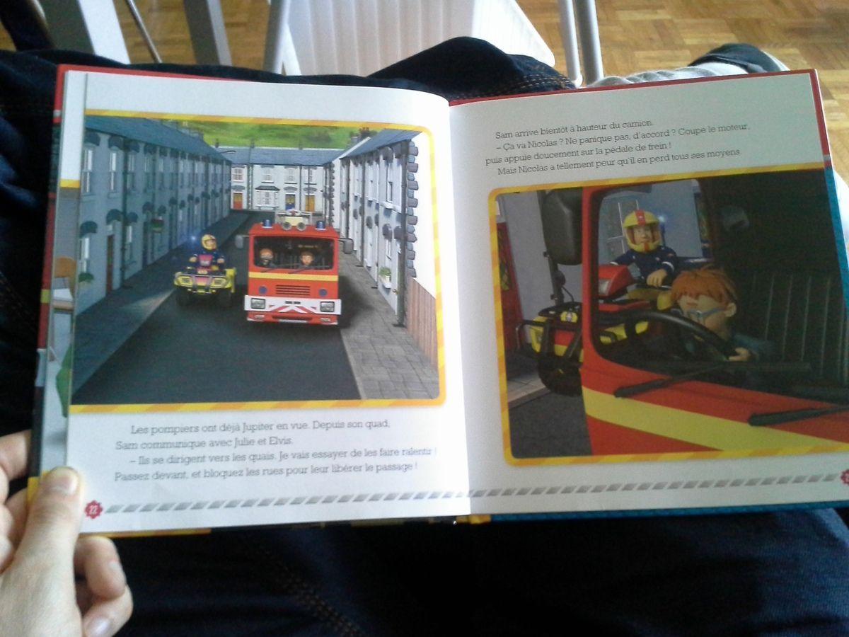 """[Papathèque] Lecture : """"Sam le Pompier : un camion incontrôlable"""" (éd. Hachette Jeunesse)"""