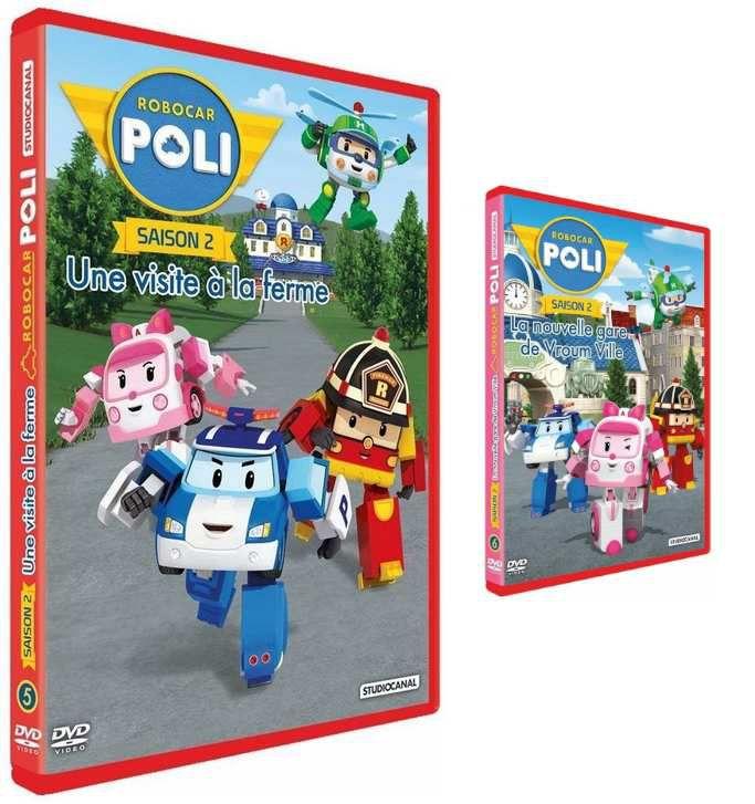 [DVD] Robocar Poli : 2 DVD, 17 épisodes et toujours plus d'aventures avec Poli et ses amis (sortie le 5 juillet 2016)