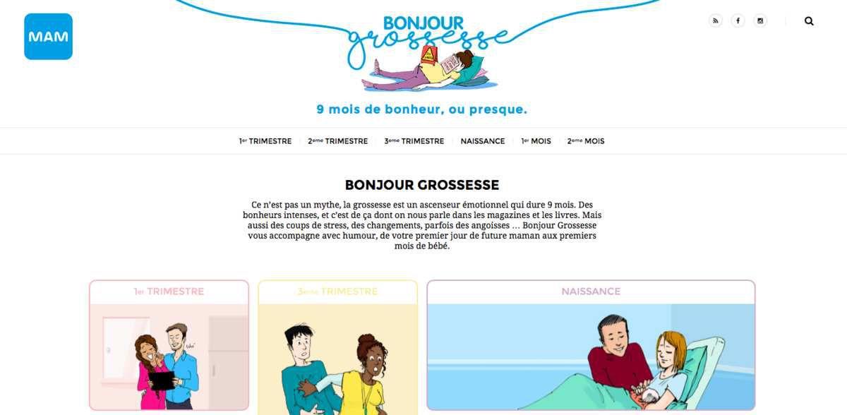 [Communiqué] MAM lance un site dédié aux futurs et jeunes parents : Bonjour grossesse