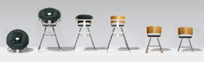 La marque de poussettes évolutives sort une chaise haute : belle, sobre et intelligente !