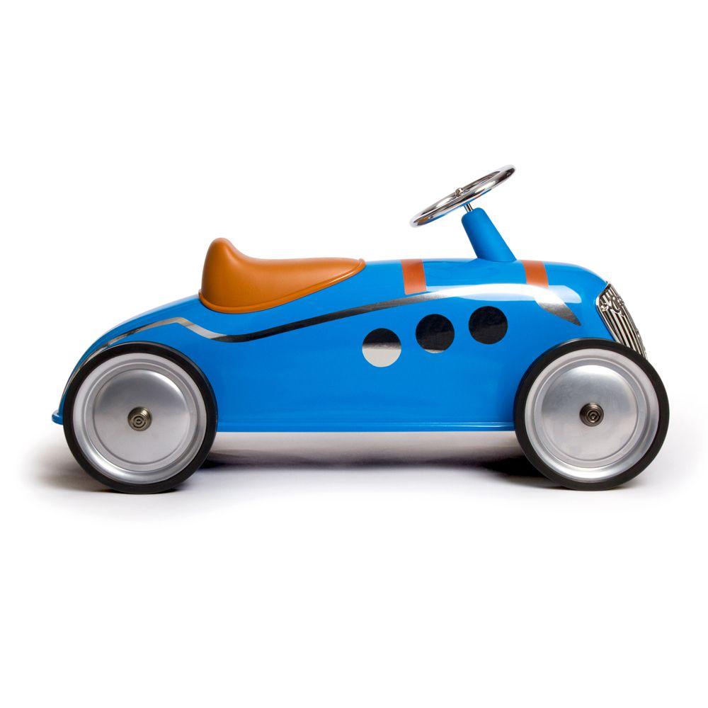 """Riders enfants - Peugeot 402 Darl'Mat : des modèles vus aux 24 Heures du Mans... en version """"minis"""". Disponibles en bleu ou beige. Prix de vente conseillé : 149€."""