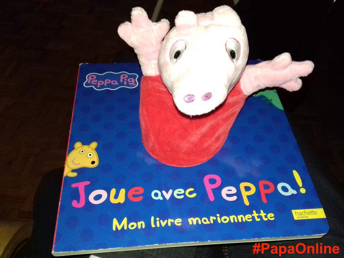 [Papathèque] Lecture : &quot&#x3B;Mon livre marionnette : Joue avec Peppa !&quot&#x3B; (éditions Hachette Jeunesse)