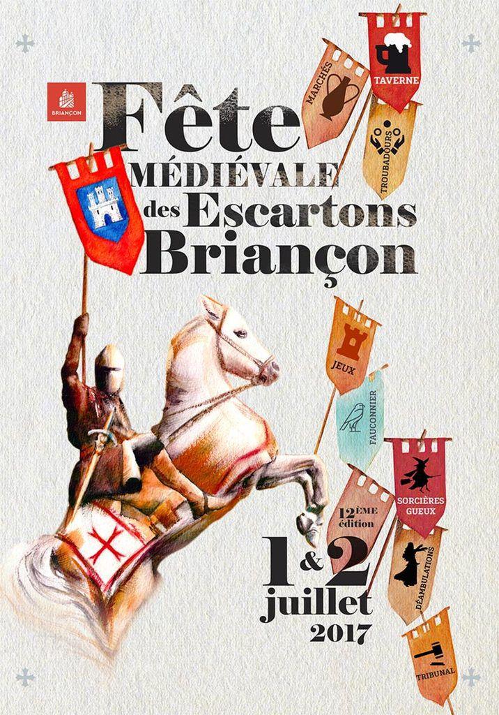 1-2 juillet 2017.- La Fête du Grand Escarton est située dans l'enceinte de la cité Vauban de Briançon (ville close depuis le Moyen-Âge, sous-préfecture des Hautes Alpes), et a lieu chaque premier week-end de juillet depuis 2005. Infos : www.escartondebriancon.eu