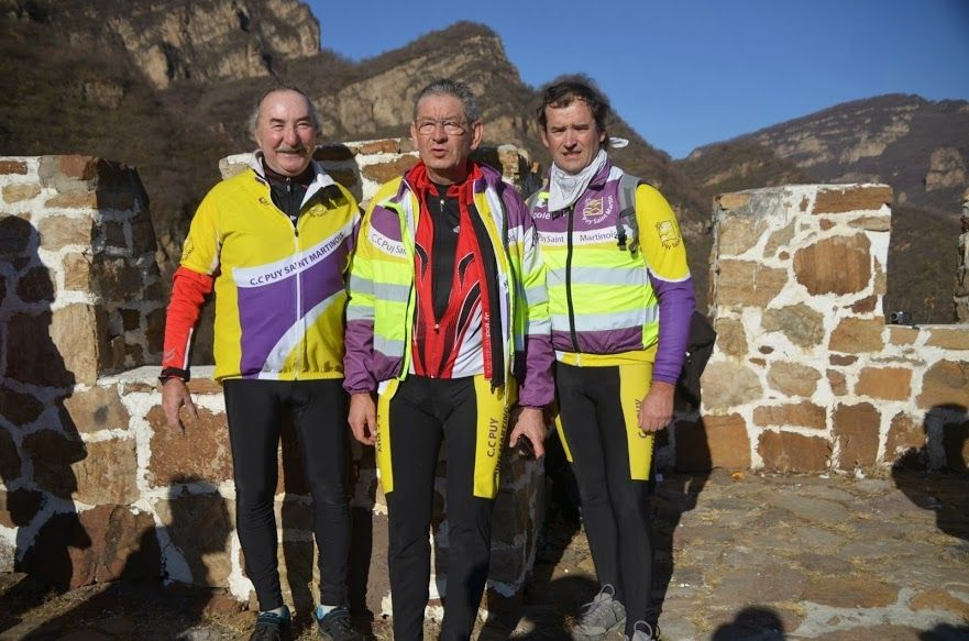 Le cyclo club puy saint martinois en Chine
