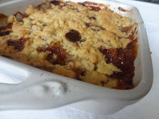 Crumble pommes-cannelle-carambar