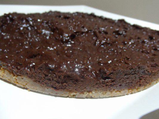 Tarte croustillante et  glacée au chocolat