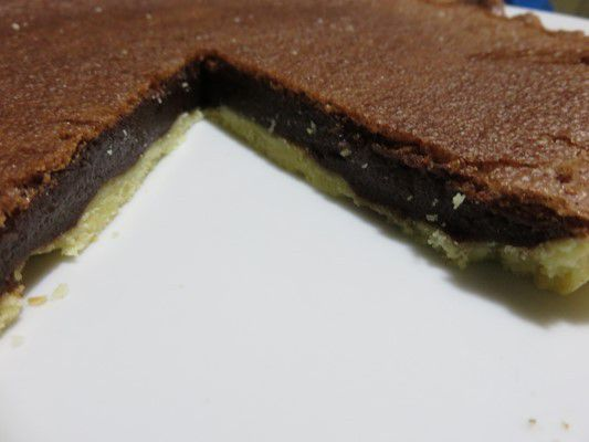 Tarte soufflée au chocolat