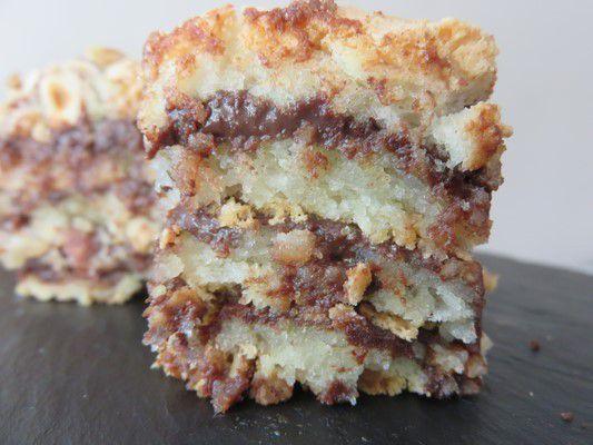 Gâteau noisettes-amandes et crème au praliné