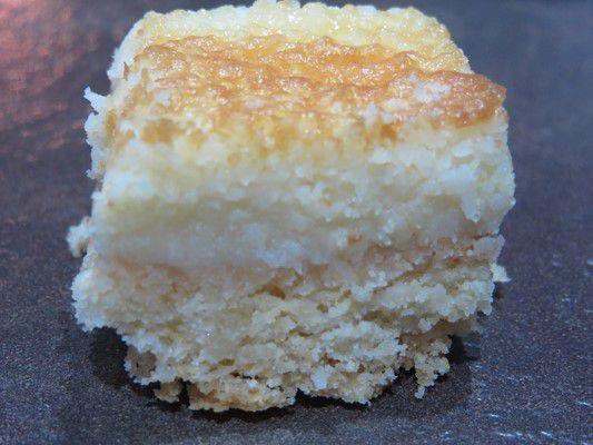 Petits carrés à la noix de coco