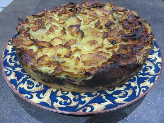 Gâteau invisible pommes cacao