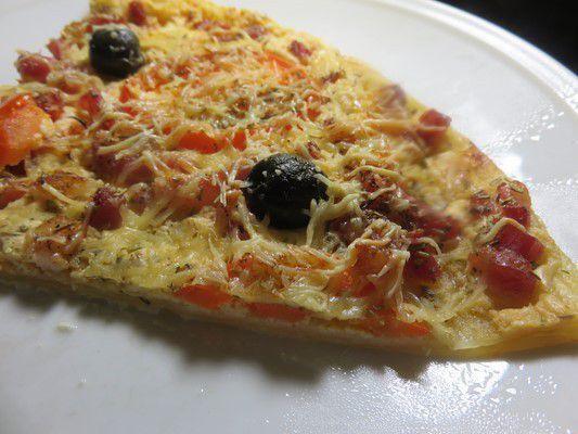 Pizza chèvre frais, accent provençal