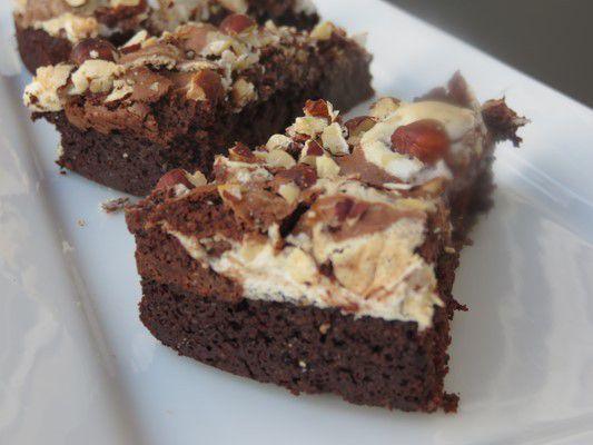 Gâteau au chocolat meringué et crousti noisettes