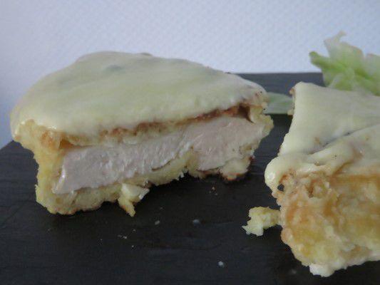 Poulet pané au parmesan et mozzarella