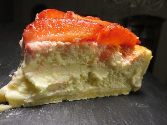 Gâteau au fromage blanc et fraises
