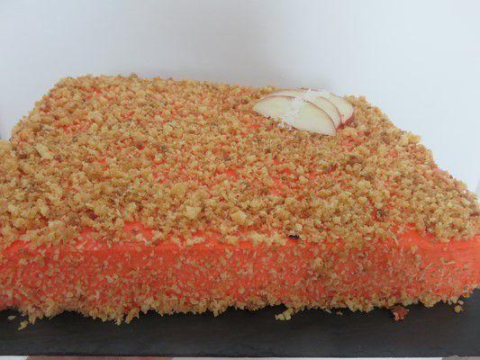 Gâteau orangée pêche abricot coco