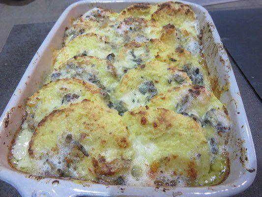 Gnocchis de semoule au fromage et gremolota