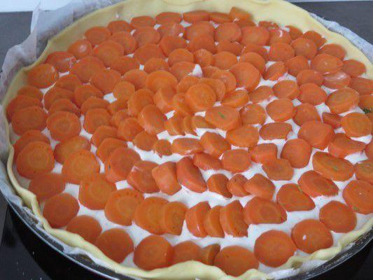 Tarte aux carottes et bleu d'Auvergne