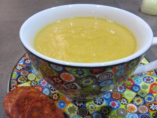 Soupe au mais et chorizo