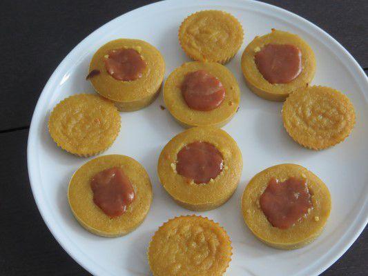 Minis moelleux aux pommes coeur caramel au beurre salé