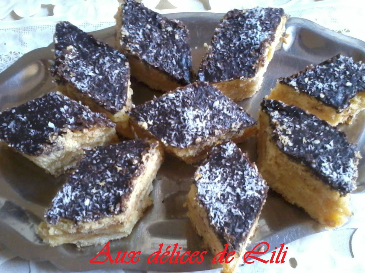 LOSANGES CHOCO/COCO FOURRES DE CONFITURE