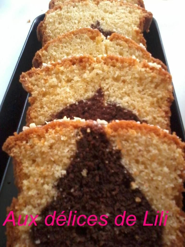 Cake Marbré au Chocolat, Vanille, Orange, Smen