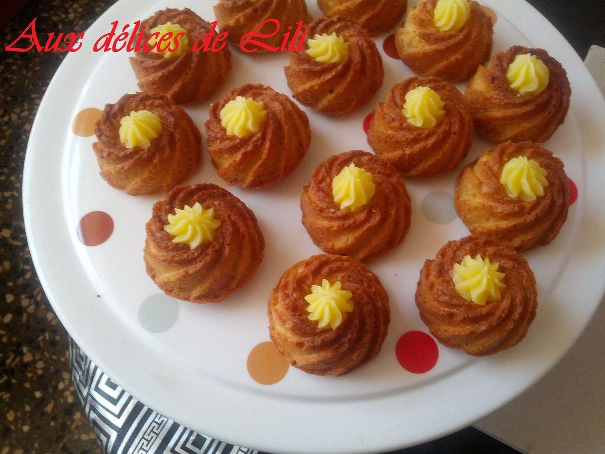 Gateaux à la Crème d'Amandes/citron