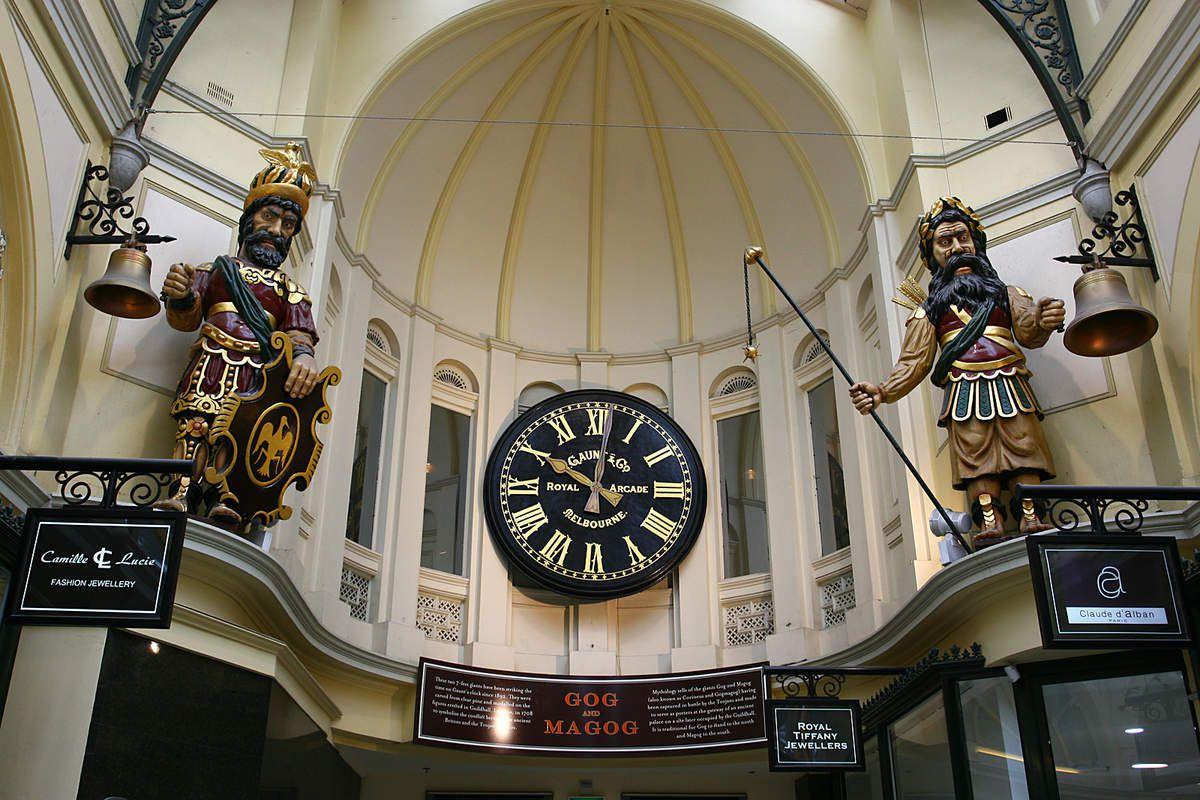 Gog et Magog au Royal Arcade de Melbourne
