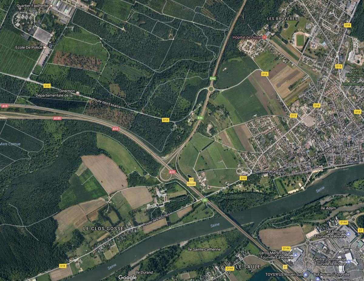 La zone de la forêt de la Londe-Rouvray dans laquelle les deux témoins auraient fait l'étrange rencontre...