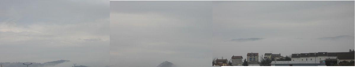 les brouillards lyonnais stoppés aux portes de Saint Etienne (29-11-2014 entre 9 et 11 heures)