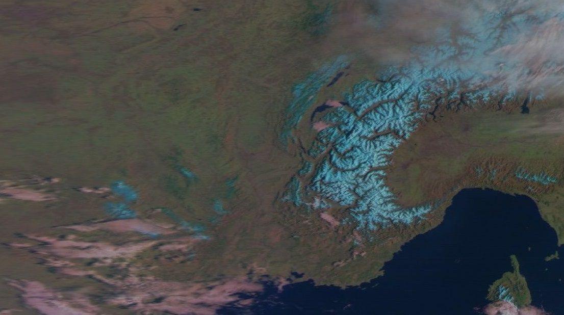la neige avant la dernière chute le 15 mars 2016