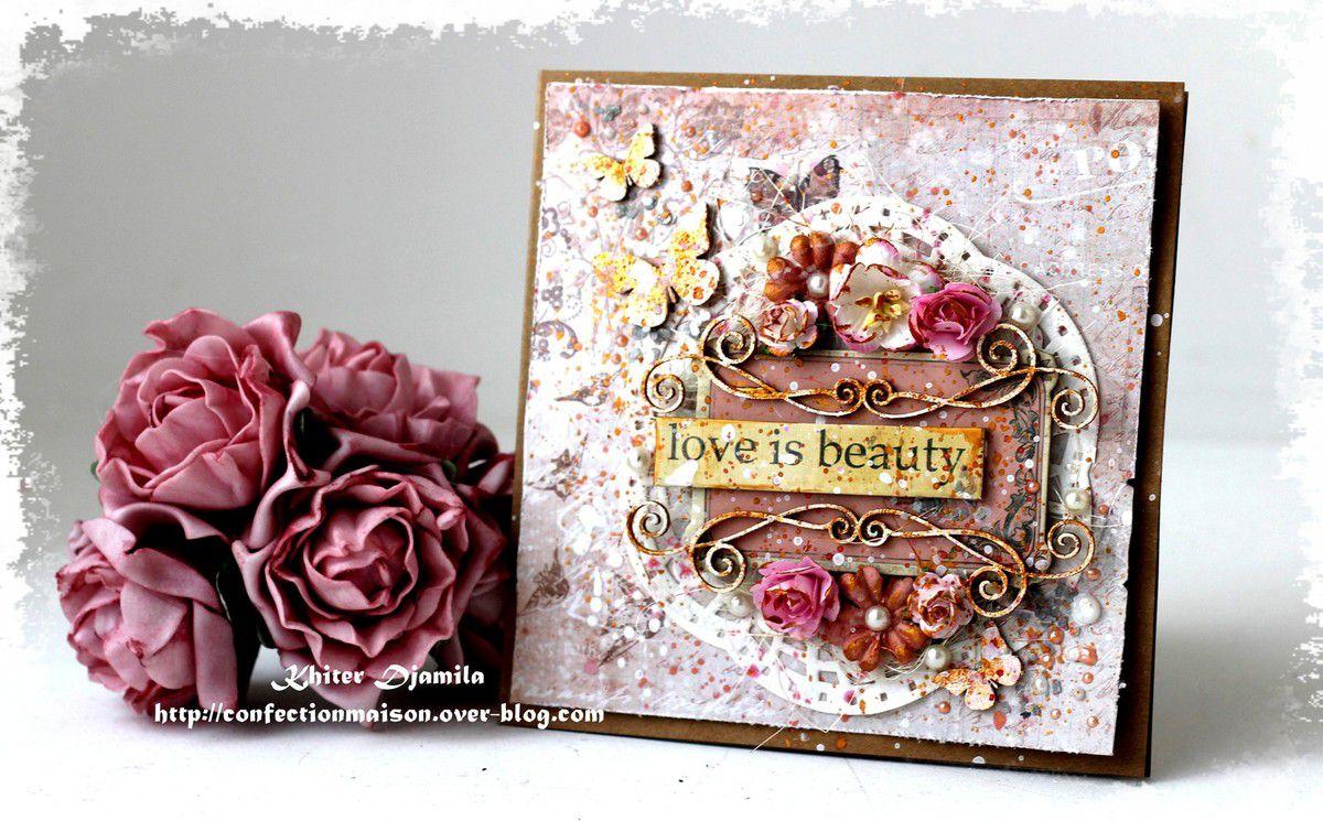 Carte &quot&#x3B;Love is beauty&quot&#x3B; Dt SnipArt + video