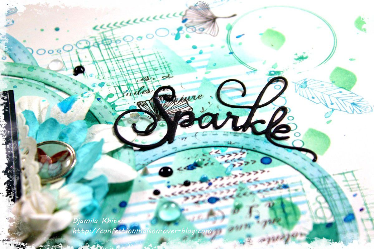 Page &quot&#x3B;Sparkle&quot&#x3B;+ video DT Die Cuts and More