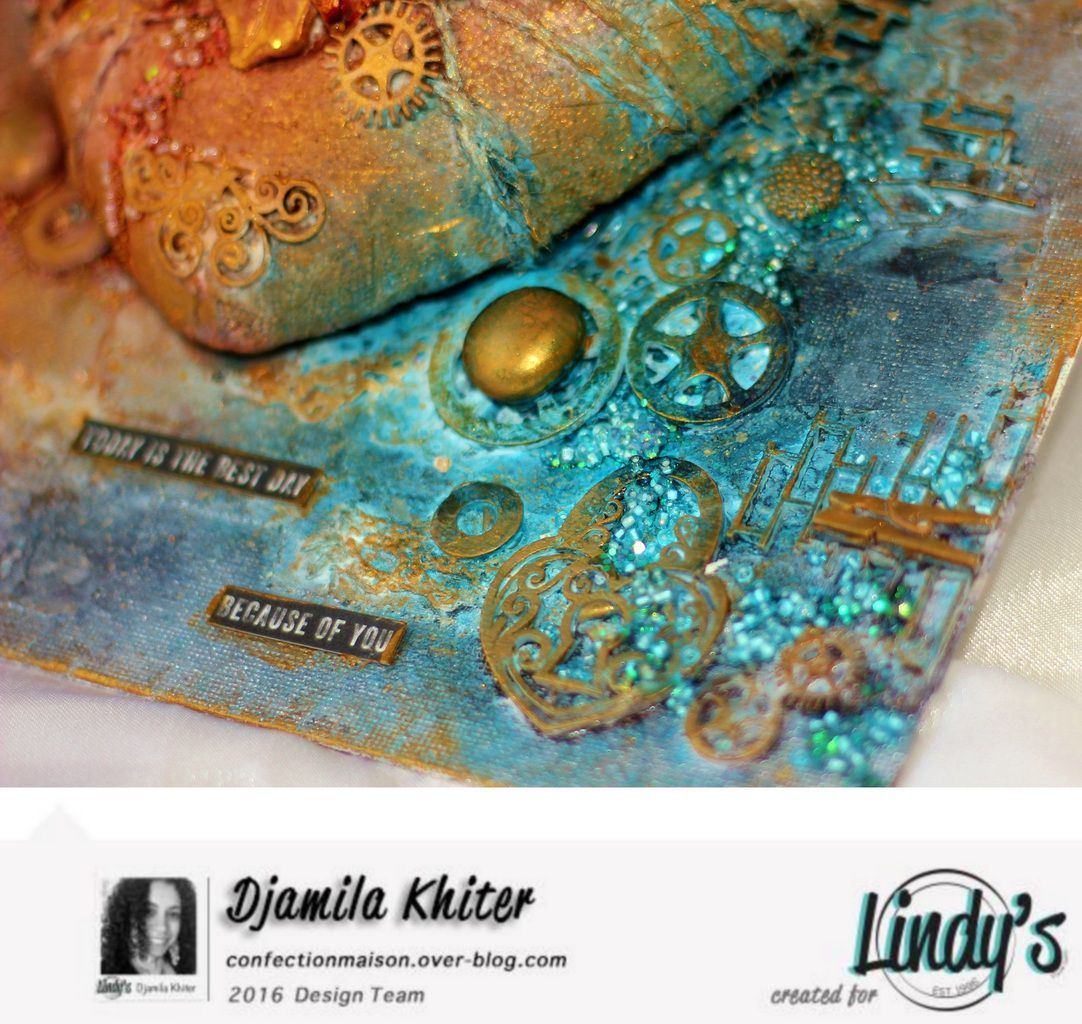 Canvas &quot&#x3B;heart&quot&#x3B; +Video  DT Lindy's Stamp Gang