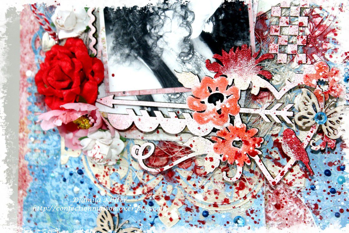 Page avec le kit Scrap Of Elegance!