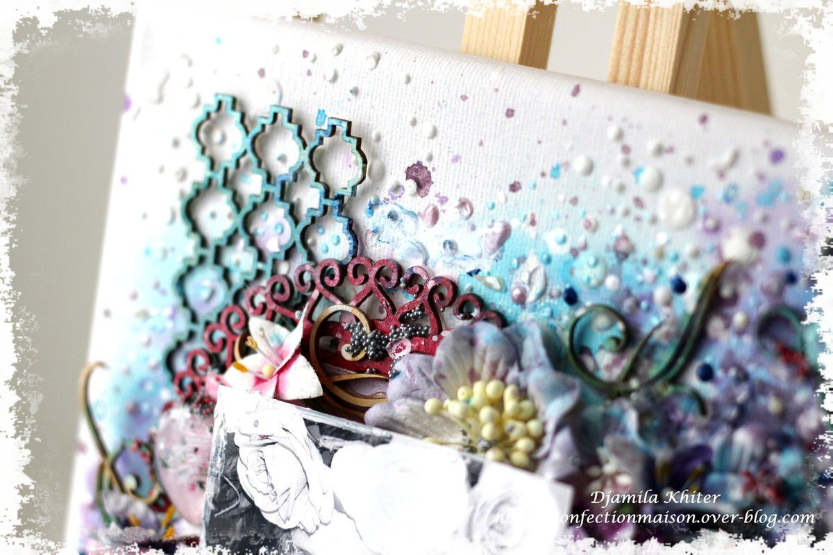 Mixed media canvas +video DT Scrapberry's