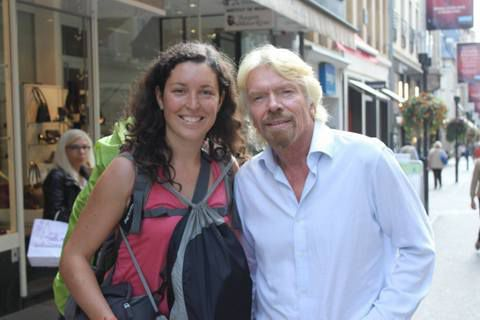 Anne-Laure avec Richard Branson (whaou :) !!!)