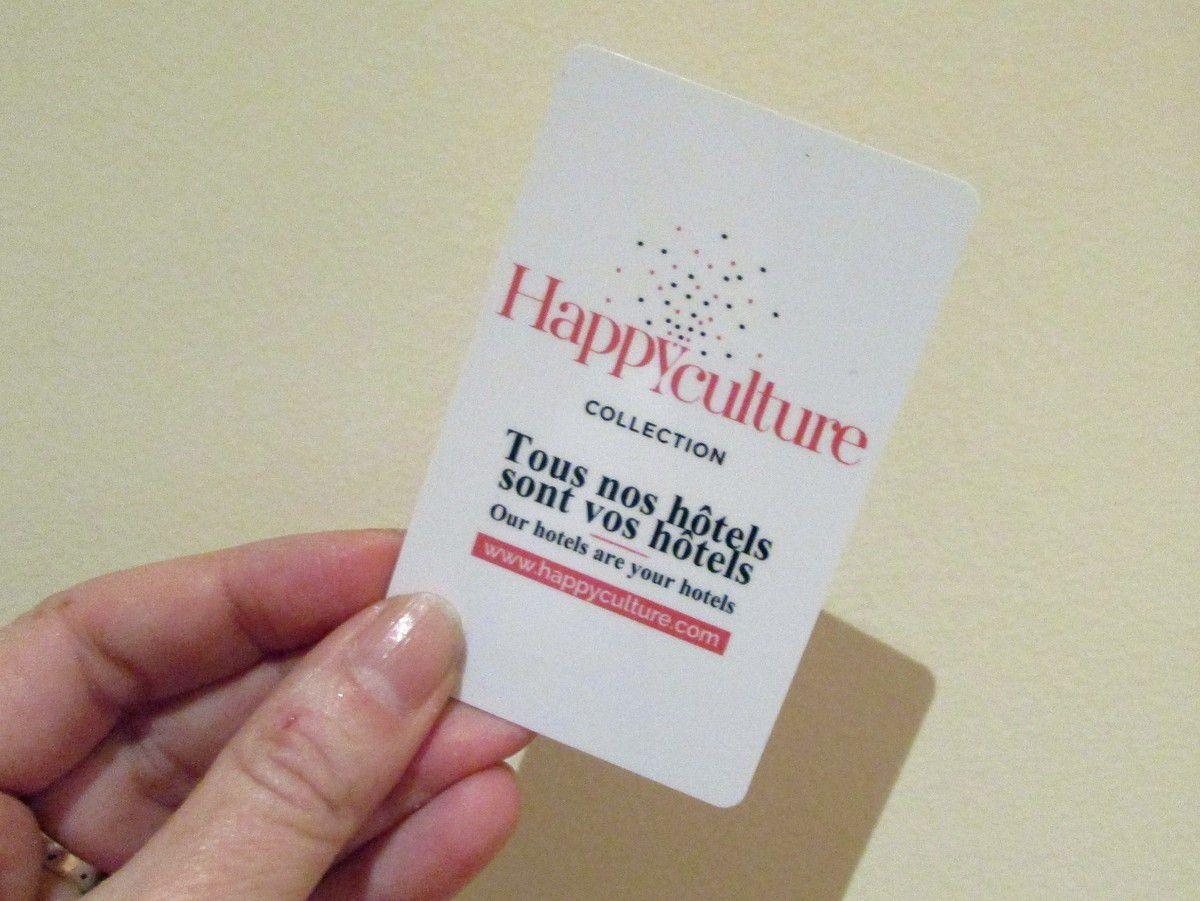 Le sézame : la carte #Happyculture (c'est aussi la clé de la chambre !).