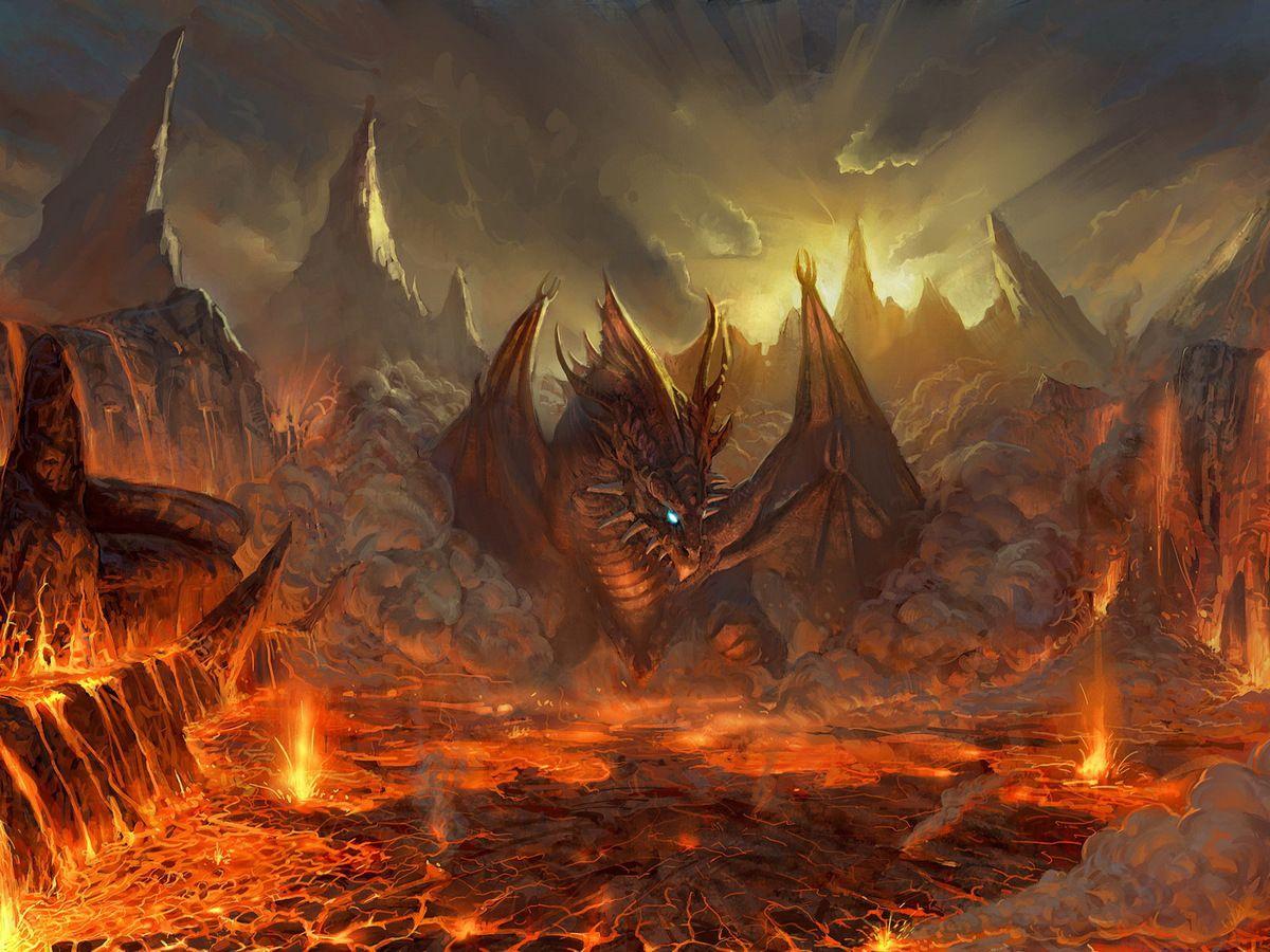 Un fond d'écran:    Les flammes de l'enfer.