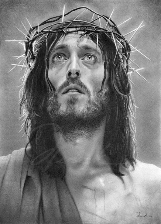 Portraits de Jésus Christ    ( la couronne d'épines posée sur la tête du Christ avant sa crucifixion)