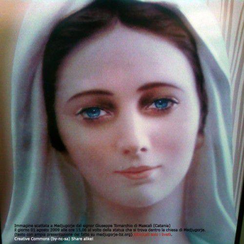 Medjugorje    (image miraculeuse de la Vierge Marie prise en photos)