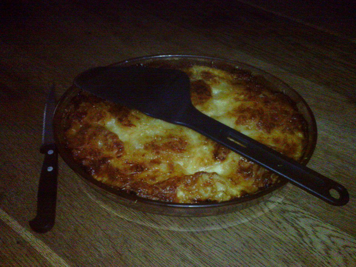 Gratin de pommes de terre au jambon cru et aux 2 fromages