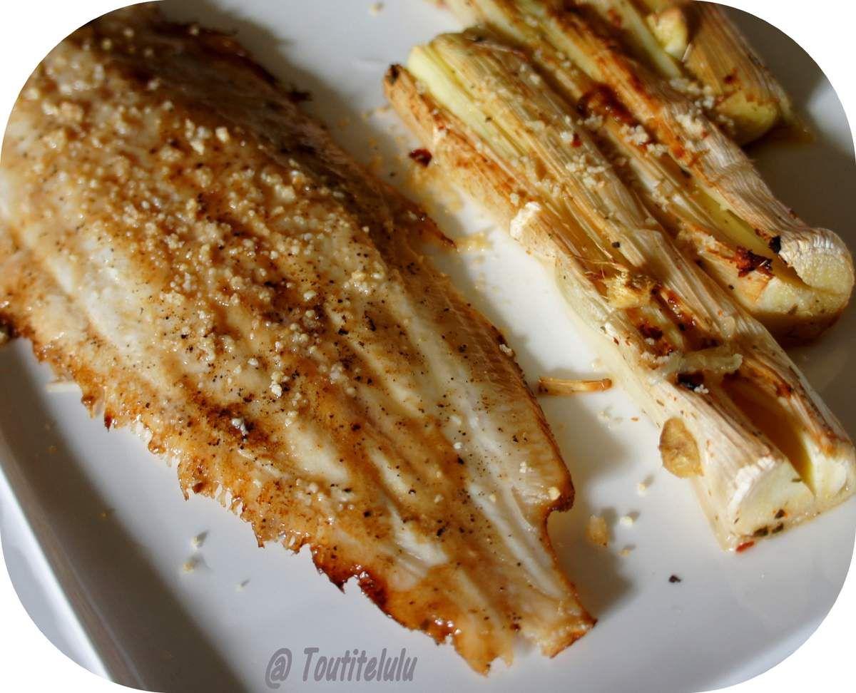 Sole fusion Japon-Thaïlande, blanc de poireaux au four sans gluten, sans lactose ni caséine
