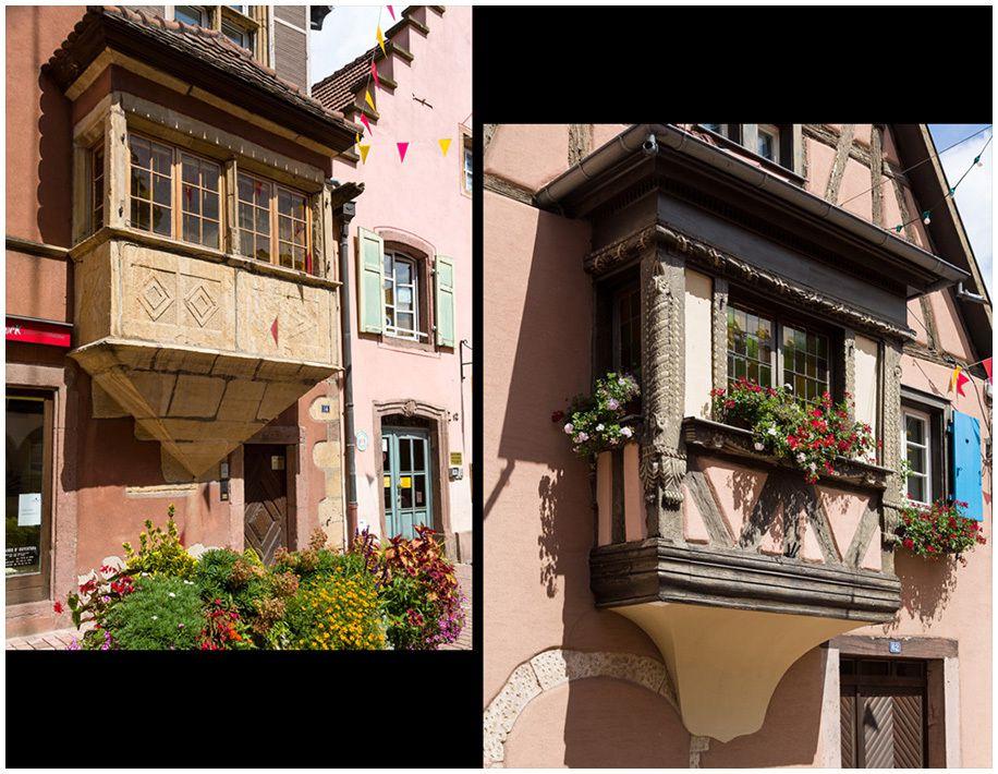 Balcons avancés , les oriels viennent enrichir les façades à colombage .