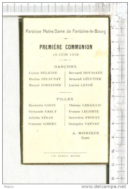 Liste de Communiants (16/06/1929) à Fontaine-le-Bourg (76)