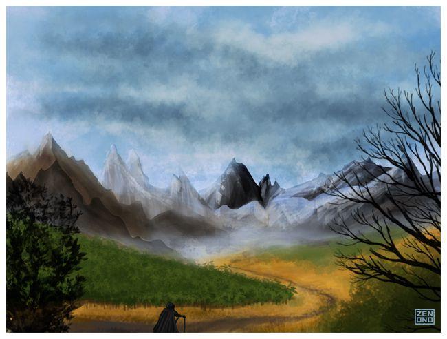 Paysage de montagne ...