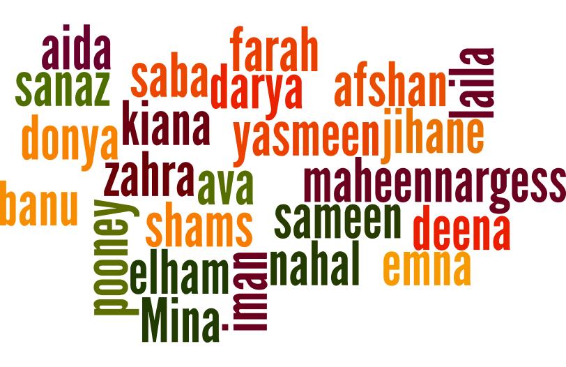Liste prénoms féminins persans